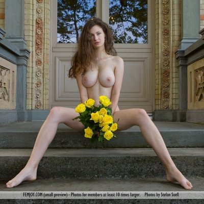 Susann with flawless tits and perfect naked body is a true GODDESS girl