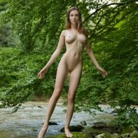 Young and youthful Mariposa cute and nude teen girl with a flawless body