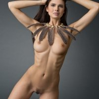 Elegant Jasmine Andreas perfect slender body with the most beautifully shaped breasts