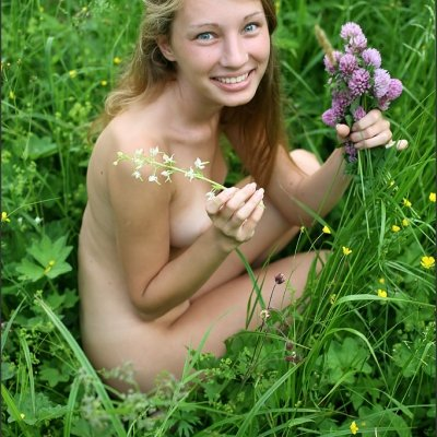 The cutest smile on sweet nude teenager Masha