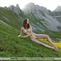 Perfect girl Mariposa naked in beautiful scenery - All you need