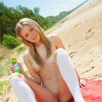 SUPER cute and sweet girl nudes at the beach