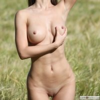 Jasmin naked outside in the fields a dazzlingly pretty girl