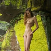 Dream girl Anna-Leah in a mystic forest